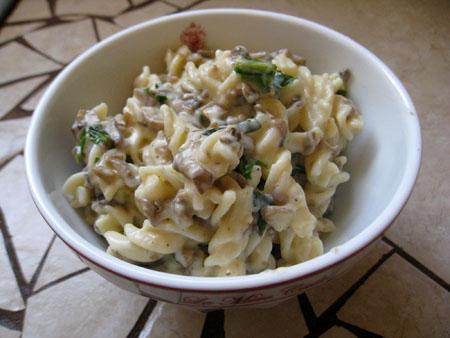 mushroom cheese pasta 2